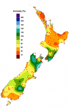 New Zealand Rainfall Anomalies for March 2013