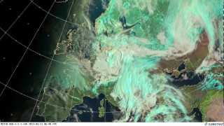 Snow over northeastern Europe on 21 March 2013