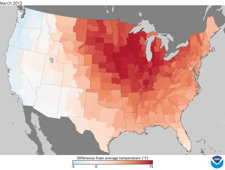 National Climate Report March State Of The Climate - Us weather map march