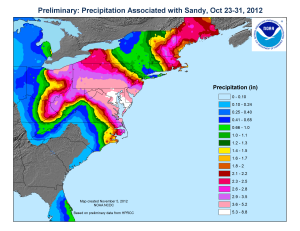 Sandy precipitation totals