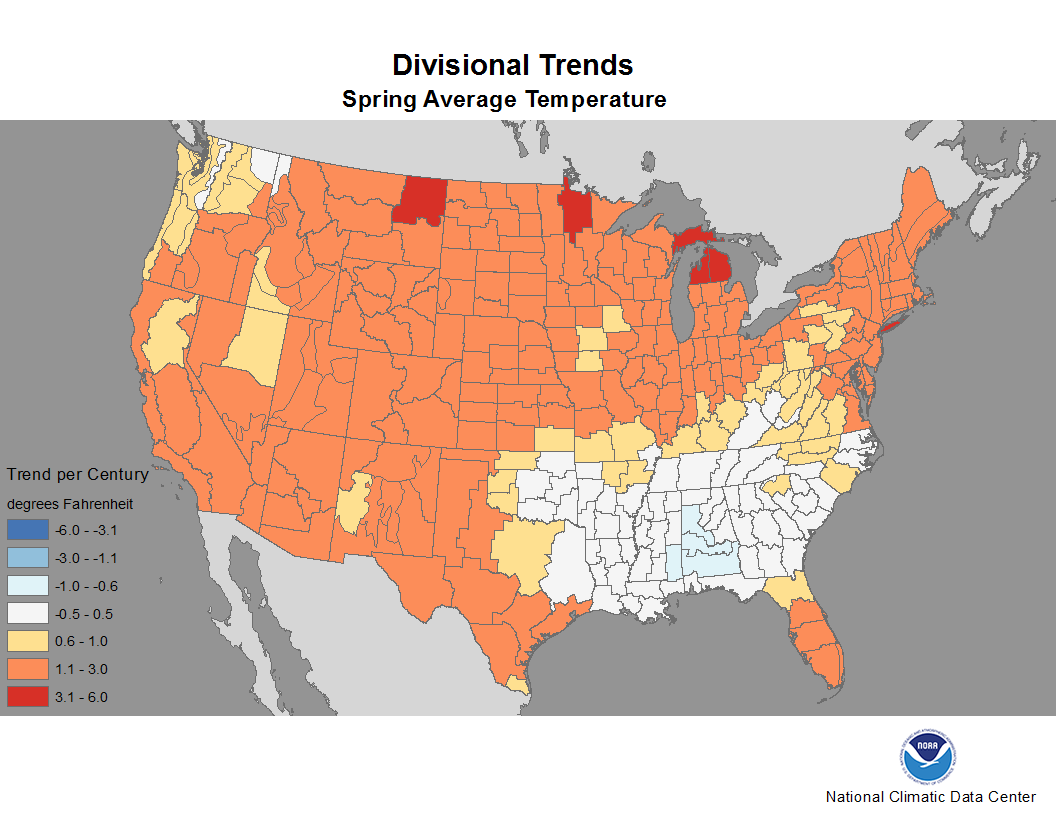 National Climate Report - March 2014 | Spring Divisional ...