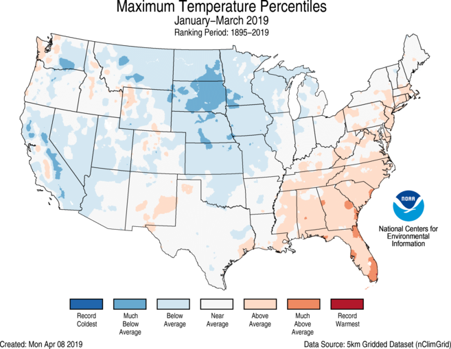 National Climate Report - March 2019 | State of the Climate ...