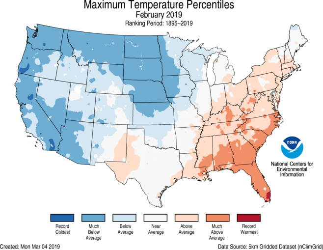 National Climate Report - February 2019 | State of the ...