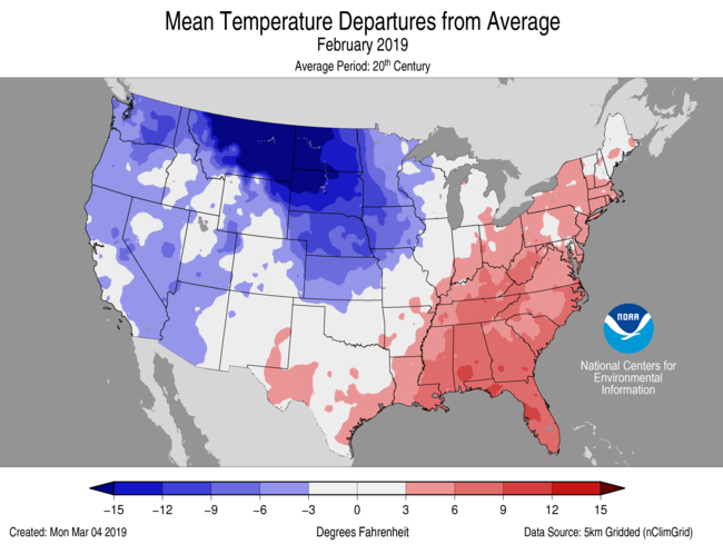 National Temperature Map >> National Climate Report February 2019 State Of The