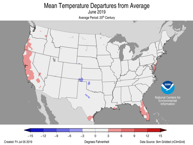 Average Temperature Departures (June)