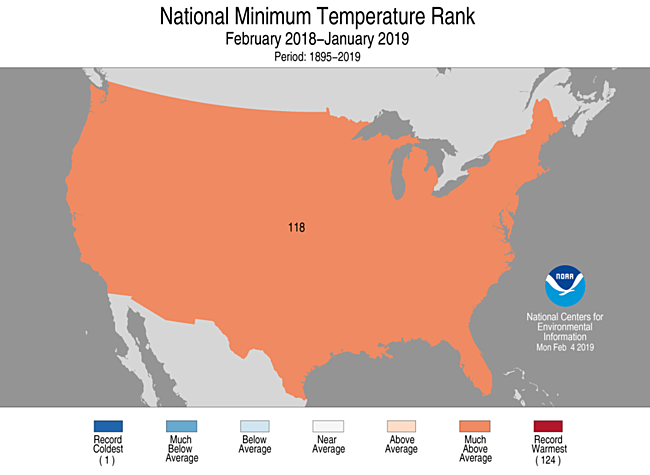 12-Month CONUS Minimum Temperature Rank