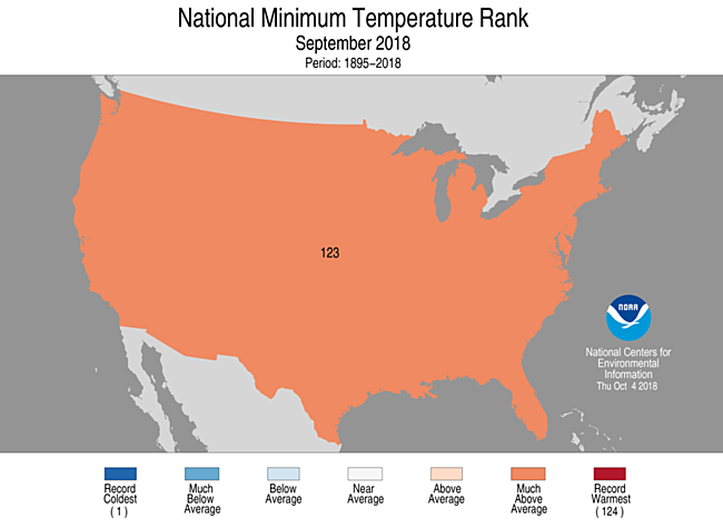 1-Month CONUS Minimum Temperature Rank