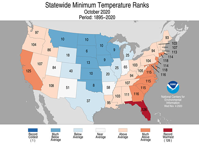 National Climate Report October 2020 State Of The Climate National Centers For Environmental Information Ncei Weather is the conditions of the atmosphere over a short period of time, and climate is how the atmosphere is over long periods of time. national climate report october 2020