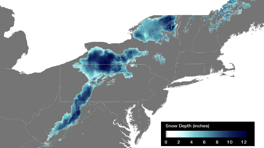April 24th Northeast Snow Depth
