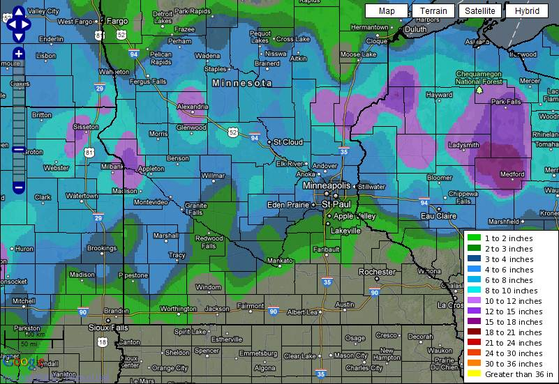 Snow totals Feb 29 2012