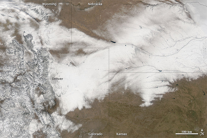 Satellite Image of December 19-20 Snow Cover