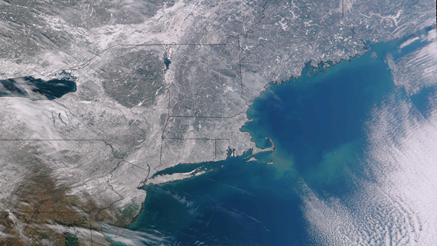 Satellite Image of Northeast Snow Cover