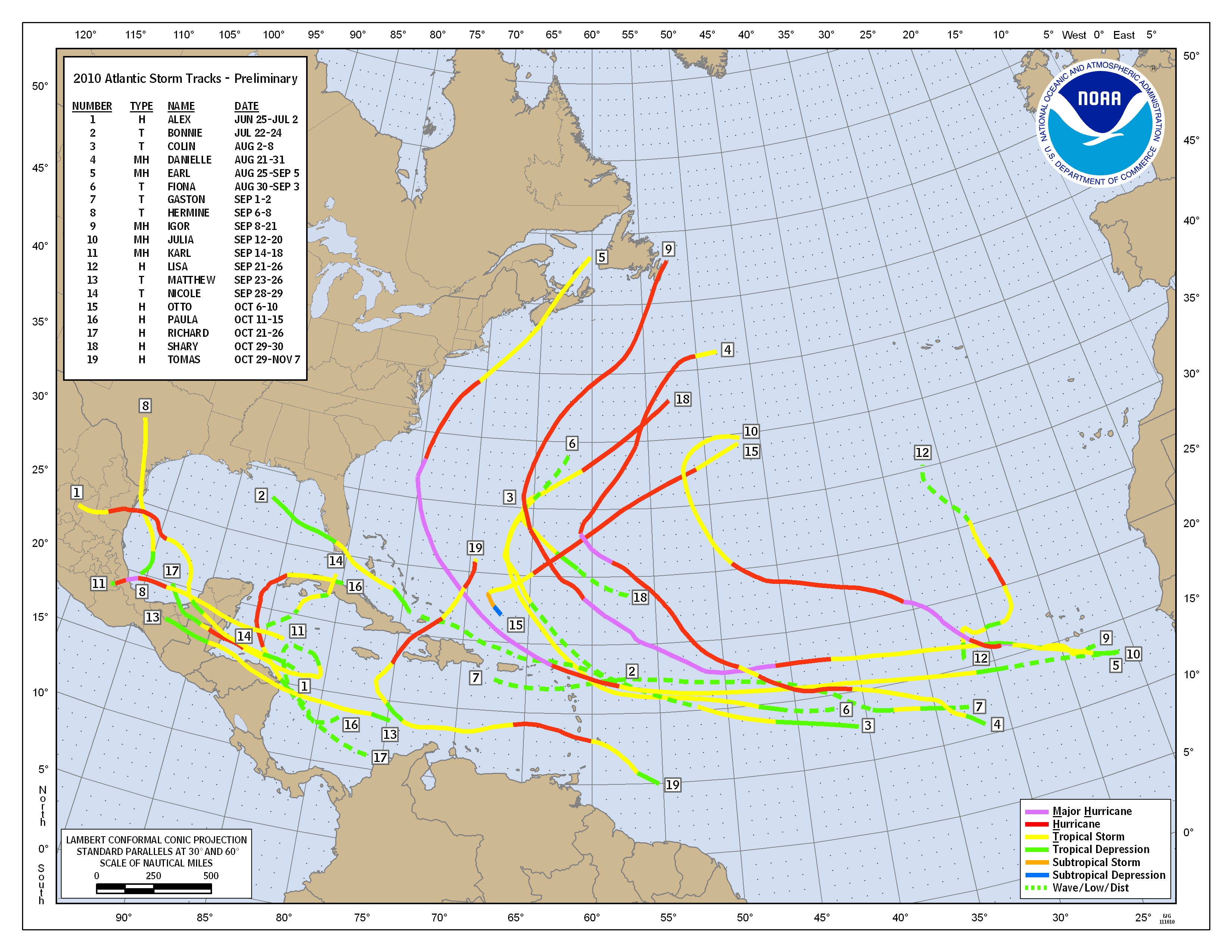 Hurricanes and Tropical Storms  Annual 2010  State of the
