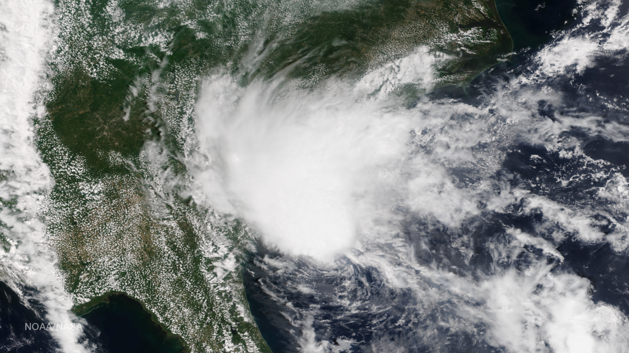Satellite Image of Tropical Storm Bill