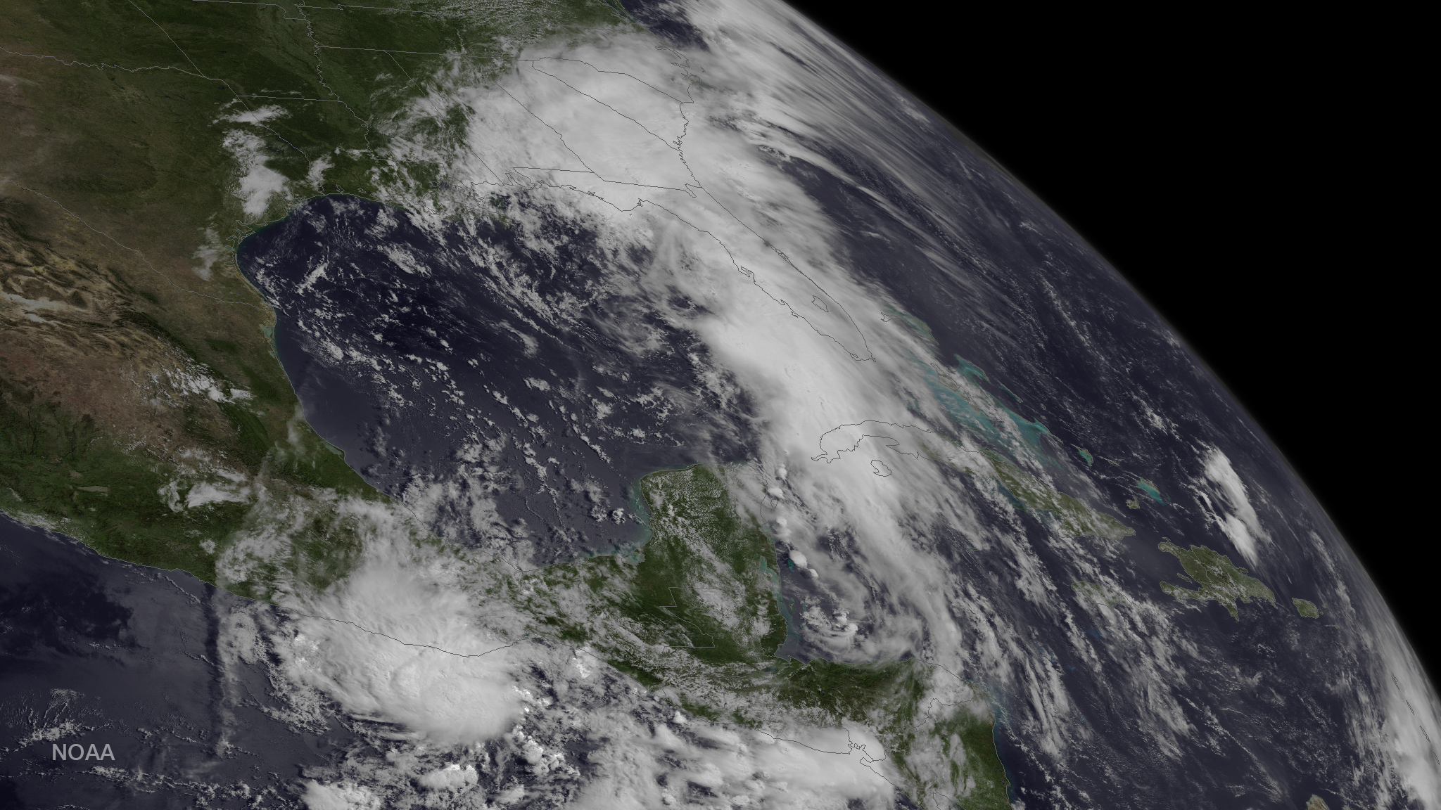 Satellite Image of Tropical Storm Colin