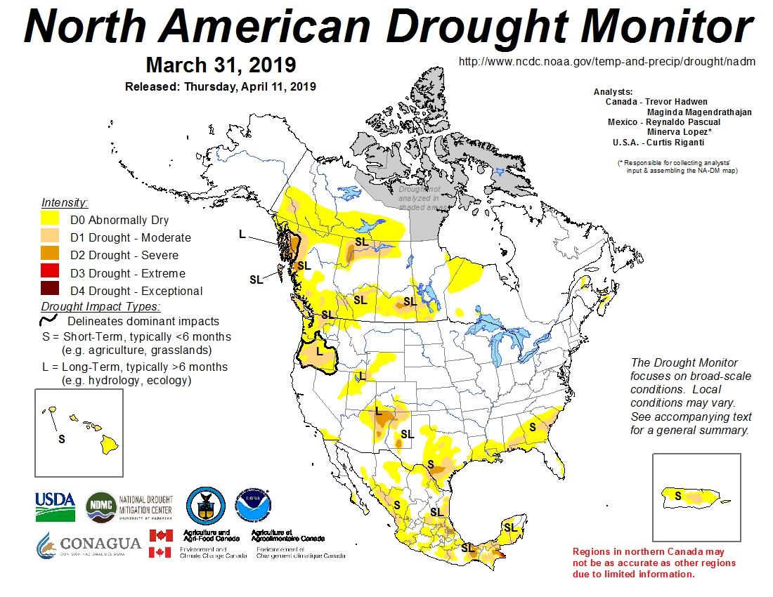 North American Drought Monitor | Temperature, Precipitation, and ...