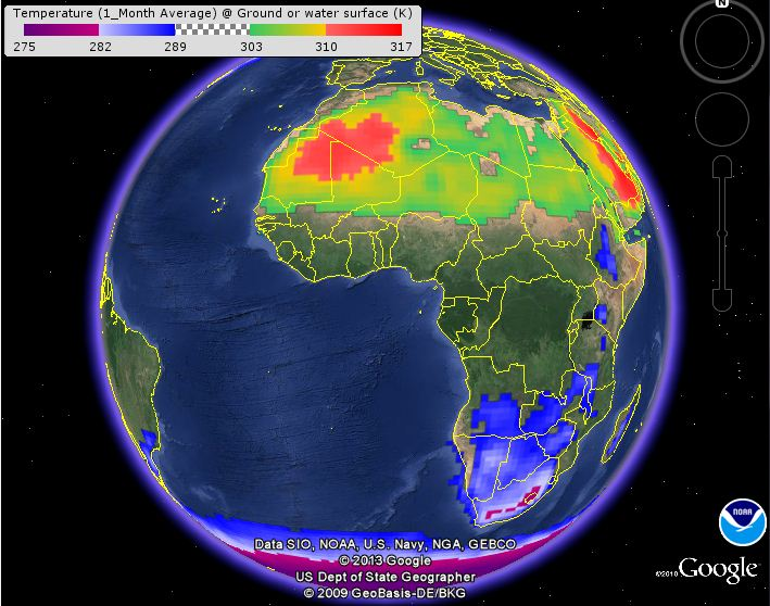 NOAA's Weather and Climate Toolkit (Viewer and Data Exporter)
