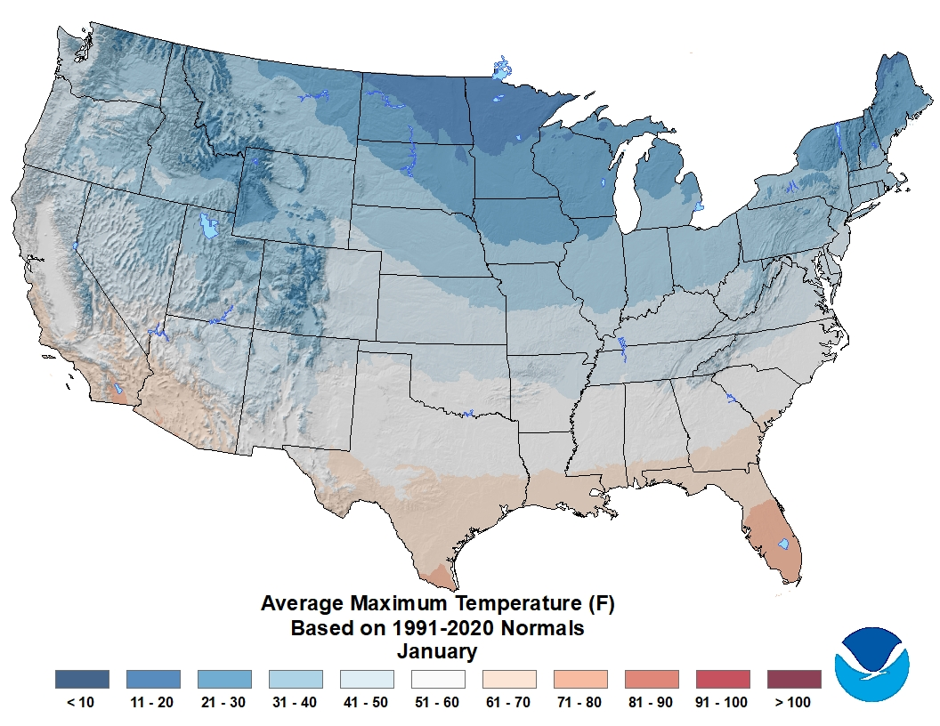 US Climate Atlas National Centers For Environmental - Us climate map